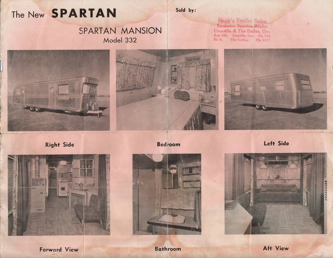 Spartan Mansion House Trailer Sales Brochure And Owners Manual
